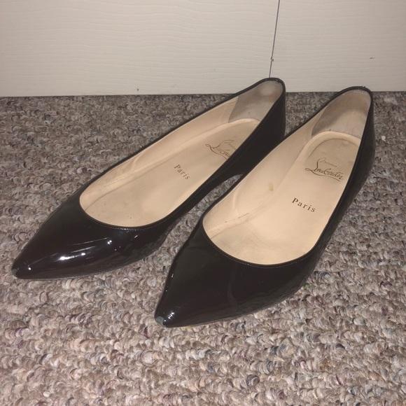 a6d3a8c5a16 Christian Louboutin Shoes - Christian Louboutin Pigalle Follies Patent Flats